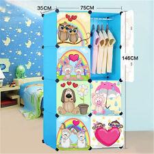 DIY 8 Cube Cute Kid Storage Cupboard Cabinet Wardrobe Rack Toy Book Shelves