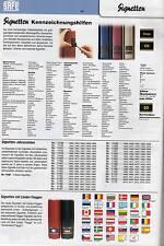 Sortiment SAFE Signetten bzw. Flaggen- Signette - zur Auswahl !