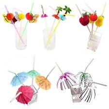 3D Exotic Drinking Straws Multi Listing! Party Umbrella Cocktail Parasol Sticks