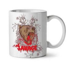 Savage Beast Bear Animal NEW White Tea Coffee Mug 11 oz | Wellcoda