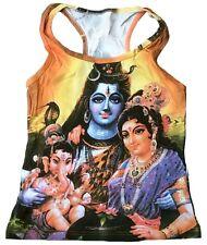 SHIVA+GANESH+PARVATI Hindu Family Goa Dj Tattoo Designer WoW TANK TOP SHIRT S/M