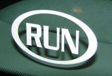 """RUN Half Marathon Decal Sticker Runner 2.5"""" 3.5"""" 5"""" 6"""" WHITE BLACK SILVER PINK"""