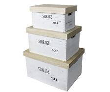 Boîte en bois étagère panier caisse coffres Valise de décoration conservation