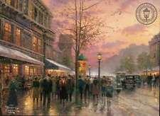 Boulevard Lights, Paris ---Thomas Kinkade Postcard