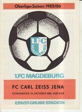 OL 85/86  1. FC Magdeburg - FC Carl Zeiss Jena