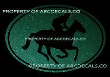 VRS OVAL Horse Racing Jockey Thoroughbred Race Breed CAR DECAL METAL STICKER