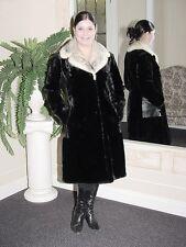 BLACK TRANCIATI muschiato & Cross Mink Fur Coat