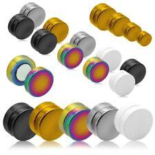 2 Magnétique Faux Plugs Fake Tunnel Piercing Boucle d'oreilles Aimant 6 - 12 mm