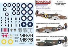 RAAF Lockheed Hudson Decals WWII 1/48 Scale N48001