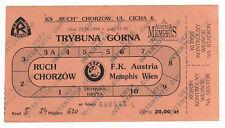 Ticket UEFA Cup 98/99 inmersas chorzow-Austria Viena