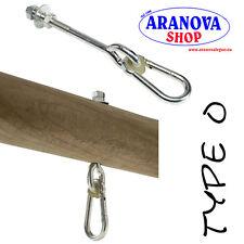 Gancio per altalena da M 10/12 lunghi 10/12/14  cm con moschettone (pz. 2)