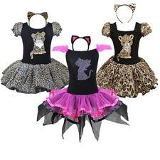 Mädchen Kinder Tiger Katze Kostüm Kleid Karneval Party Hochzeit Tut Kleid +Ohren