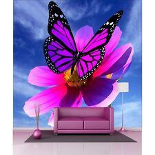 Stickers géant déco : Papillon fleur 1216