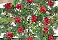 Burgundy Valentine Christmas Opera Roses Grave Blanket Cemetery Memorial Flowers