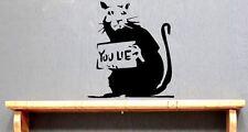 "La etiqueta de la Pared Graffiti Banksy estilo rata ""que se encuentran"" Laptop Vinilo Pared Adhesivo"