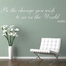 Ser el cambio que desea ver en el mundo cita Pegatinas De Pared Calcomanía inspiración
