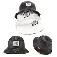 Mens Womens Premier Punching PU Bucket Bowler Boonie Camping Cap Outdoor Hats