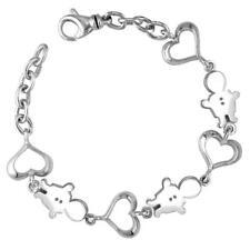 Classic Kids Sterling Silver Heart Charm Bracelet, 3 Boys