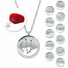 Edelstahl Halskette Sternzeichen silber Horoskop Tierkreiszeichen Geschenkbox