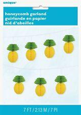 Pineapple Honeycomb Paper Ball Hawaiian Party Garland Decor