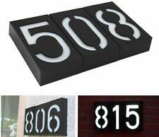 House Number Doorplate Digital Solar Light LED Door Number Address Digits Wall
