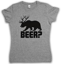 BEER? DAMEN T-SHIRT Deer Bear Fun Hunt Hunter Drinking Sport Bier Alkohol