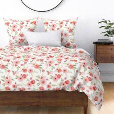 De Lujo 100/% Satén de Algodón Estampado Floral Granja Ropa de cama conjunto de edredón