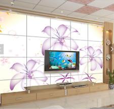 3D Cute Plants Lily 8 Wall Paper Murals Wall Print Wall Wallpaper Mural AU Lemon