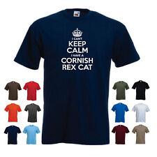 'I Can't Keep Calm I have a Cornish Rex Cat' Funny Men's Cat Pet T-shirt
