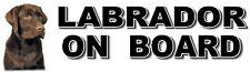LABRADOR ON BOARD Dog Car Sticker By Starprint ft. the Chocolate Labrador