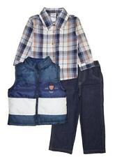 Nannette Toddler Boys Navy Blue Vest 3pc Jogger Set Size 2T 3T 4T