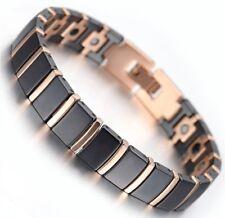 Bracelet magnétique en céramique avec des aimants - Athena noir cuivre