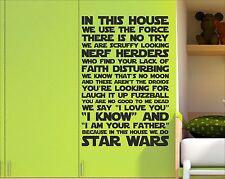 Facciamo Star Wars Ispiratore Muro Citazione Adesivo ViNL regole della casa arte SHR1