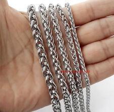 3M/6Meter in bulk Braid Chain Finding Jewelry Stainless Steel Marking DIY silver