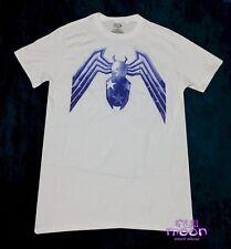 New Marvel Spider-Man White Blue Spiderman Vintage Comic Mens T-Shirt