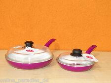 Ballarini Keramik Pfannen mit Glasdeckel 2er Set 20 und 26cm Verschiedene Farben