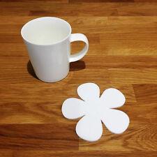 Daisy Shaped Coaster Set - White