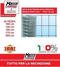 25 mt ROTOLO RETE ELETTROSALDATA ZINCATA PER RECINZIONE MAGLIA 50X75  5X7,5 1.8