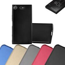 Schutz Hülle für Sony Xperia XZ1 Compact Handy Cover Case TPU Matt Metallic