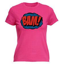 Comic Bam WOMENS T-SHIRT Tee Superhero Comics Pop Art Funny birthday gift