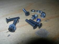 Packs of 10 M3,M4,M5,M6 Countersunk(CSK)Head Black Screws +NYLOCS &FLAT Washers