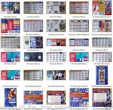 AFL FOOTBALL Tickets / Ladders / Footy Fixtures - Memorabillia 1990s - 2000s