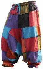 UNISEX ESTATE HIPPY patch PANTALONE patchork Harem Baggy FESTIVAL Pants S M L XL