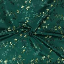 Chinese Floral Damask Fabric Faux Silk Jacquard Brocade Cheongsam Materials