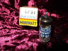 One Philips Miniwatt EF91 NOS NIB Tube