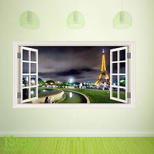 Ventana de París Pared Adhesivo a todo color-Salón Cocina Pared Arte C383