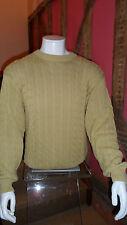 Da Uomo XXL 100% cotone maglia girocollo sweater a pale Senape da DeHavilland