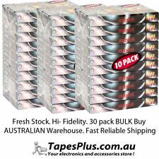 BULK 30 PACK UR90 90 MINUTE BLANK AUDIO CASSETTE TAPES. FRESH AND MAGNETIZED