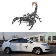 Scorpion Lizard Spider 3D Car Bumper Stickers Vinyl Decal Stickers Scratch Cover