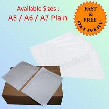 DOCUMENT ENCLOSED PLAIN WALLETS ENVELOPES Pockets A5 A6 A7 sizes Good Quality